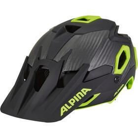 Alpina Rootge Cykelhjelm, black-neon-yellow
